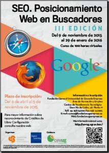 Cartel curso SEO edición 3ª