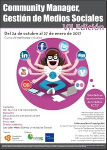 Cartel curso Community Manager