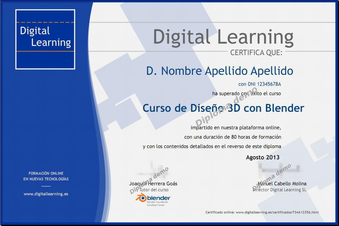 nuevos diplomas y certificados online | digital learning