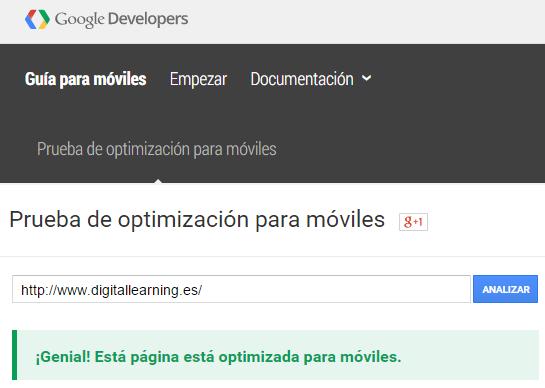 Resultado Test Google Adpatación Web Para Móviles