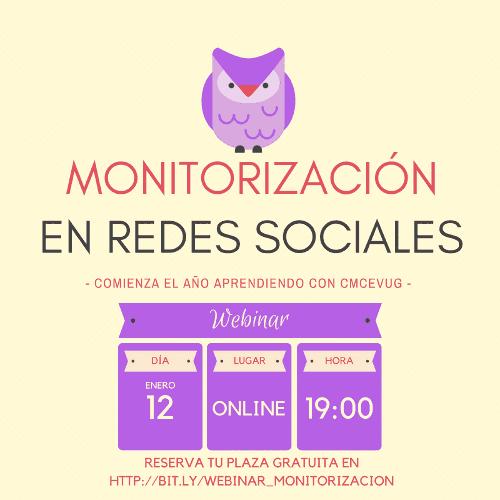 Cartel Webminar Monitorización Redes Sociales