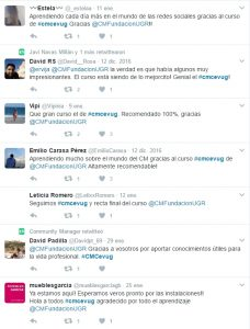 Comentarios Twitter Curso Community Manager