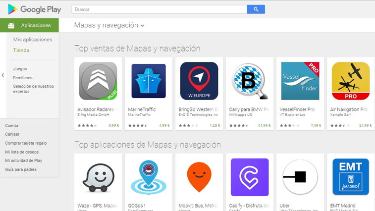 Rankings Apps en Google Play