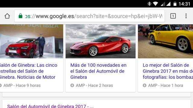 SERP Google En Dispositivo Móvil