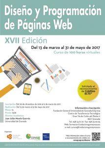Cartel curso Diseño Programación Web edición 17ª