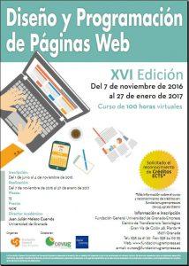 cartel curso Diseño y Programación Web