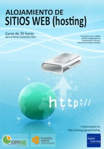 Poster Curso Alojamiento Web (Hosting)