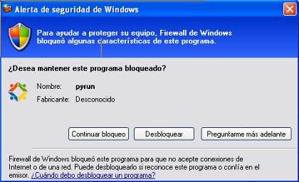 Alerta de seguridad en Windows