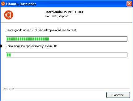 Instalando Ubuntu cun Wubi
