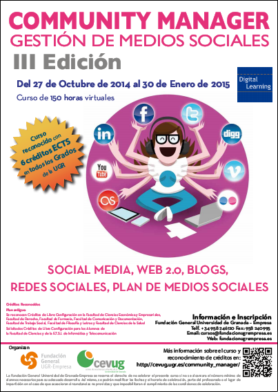 Cartel curso Community Manager ed 3ª