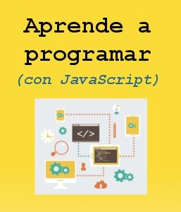 Poster curso Aprender a Programar con JavaScript