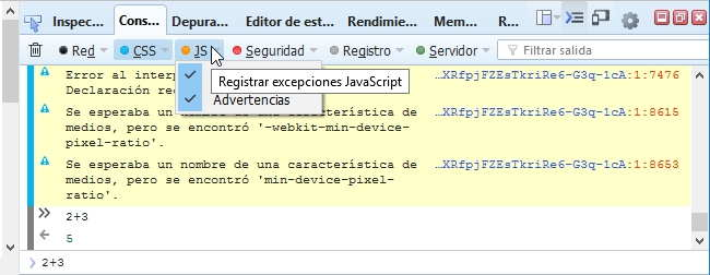 Consola web Firefox