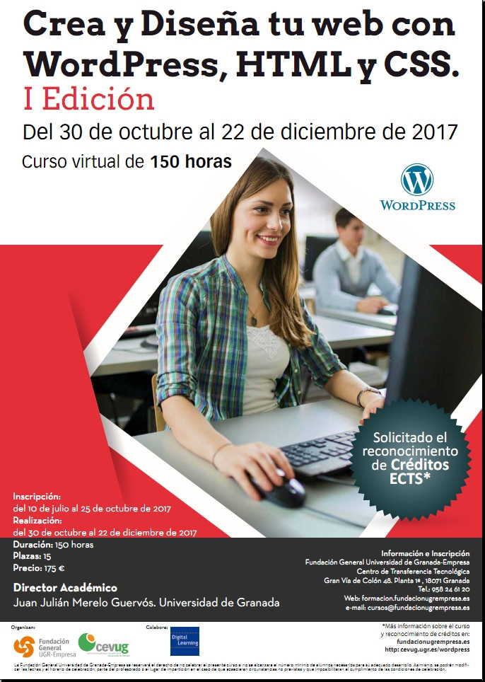 Cartel Curso WordPress, HTML Y CSS