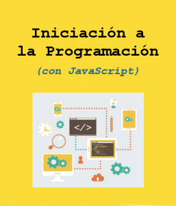Cartel curso Inicia´con a la Programación (con JavaScript)