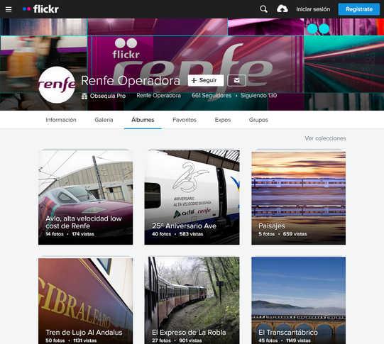 Flickr de empresa (Renfe)