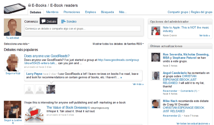 Grupo en Linkedin: ejemplo