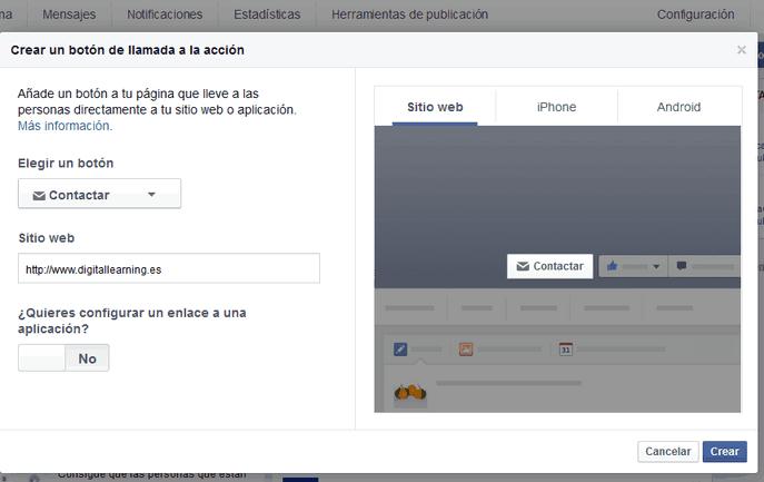 Llamada a la acción en FB