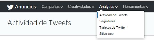 Actividad de Tweets