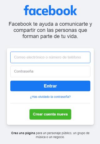 Web de facebook