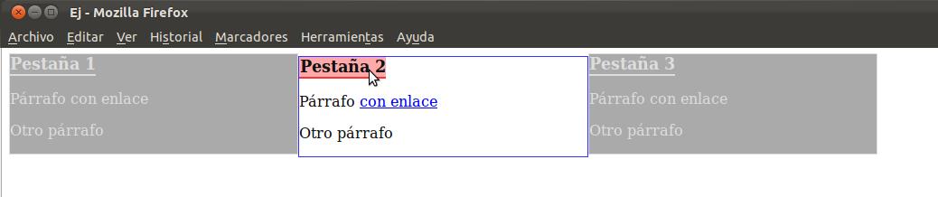 ejemplo jQuery: resaltado de 'div' al pasar ratón